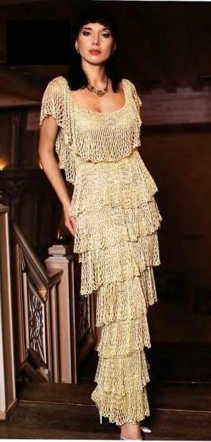 платье А-силуэта (вязание крючком