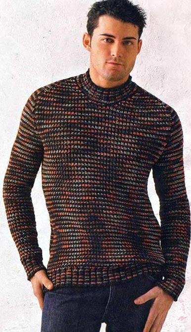 Мужские свитера спицами. Модн