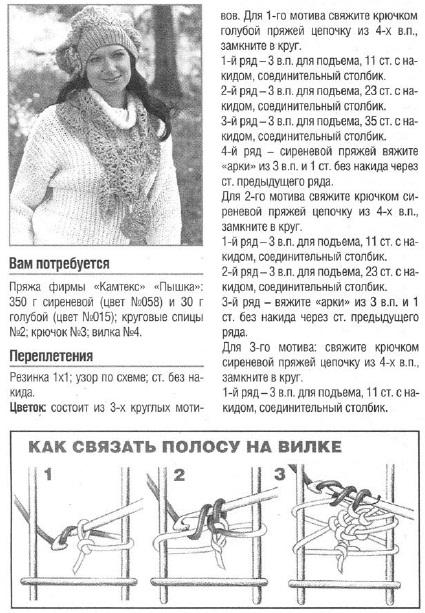 Схема вязания волнореза 58