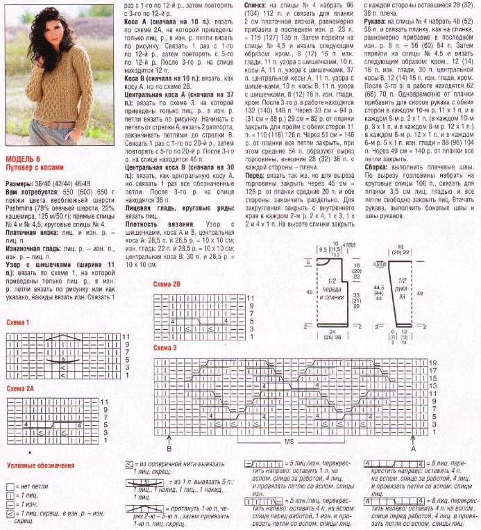 Вязание джемпер женский модели и схемы