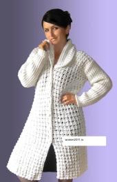 вязание спицами пальто из толстой пряжи вяжем вместе с вами