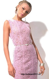 Платье из узорных полос
