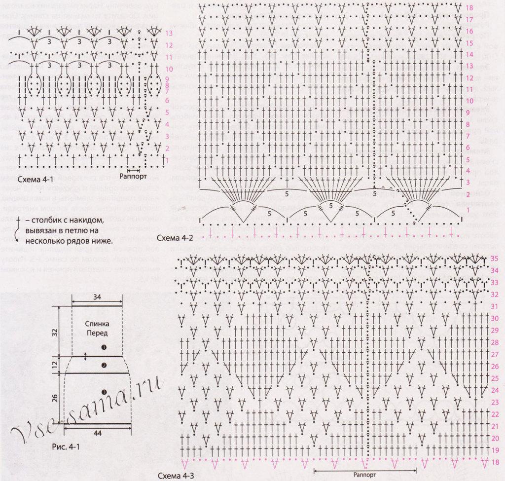 Azhurnoe-zelenoe-plate-kriuchkom-vykroika-i-skhemy
